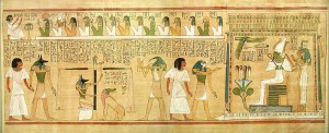 Papyri representing the weighing of the soul